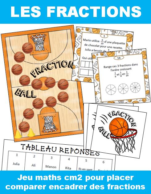 Jeux Maths sur les fractions : Fraction Ball