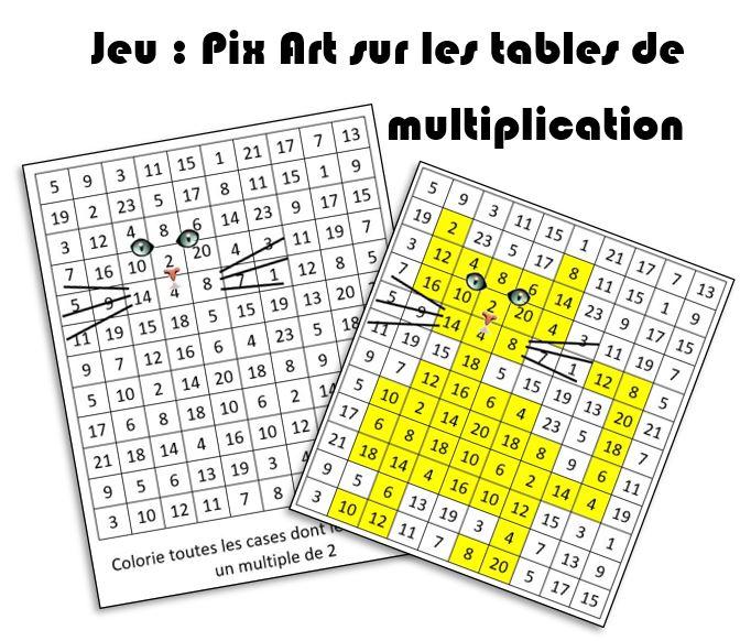 Jeu Pixart Des Multiplications