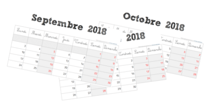 [ MODIFIABLE ] Calendrier scolaire 2018 / 2019