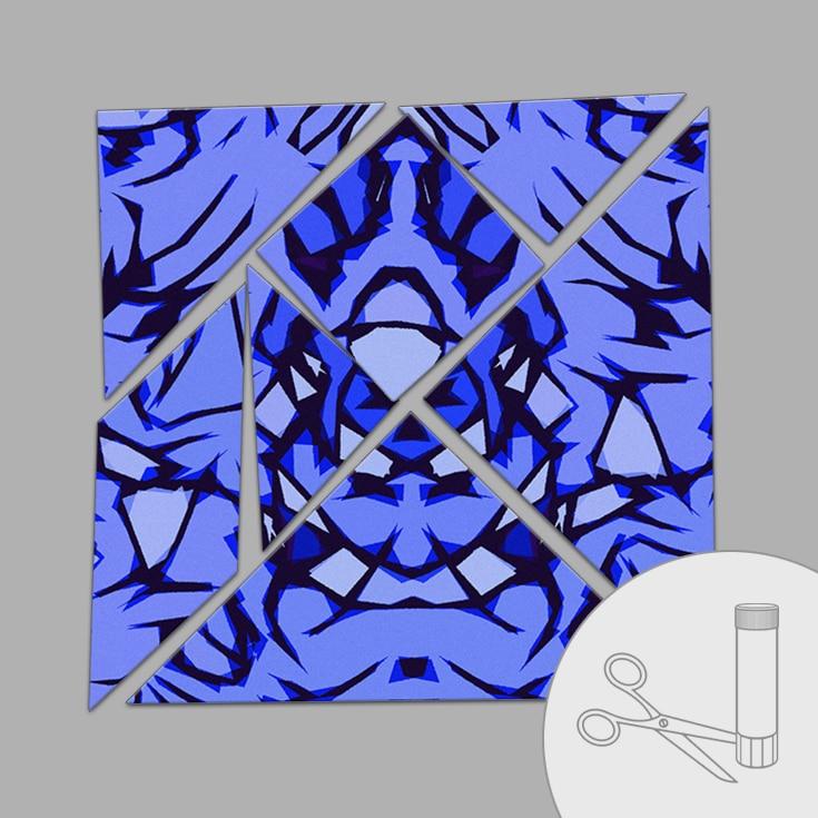 Tangram «arty» (bleu foncé)