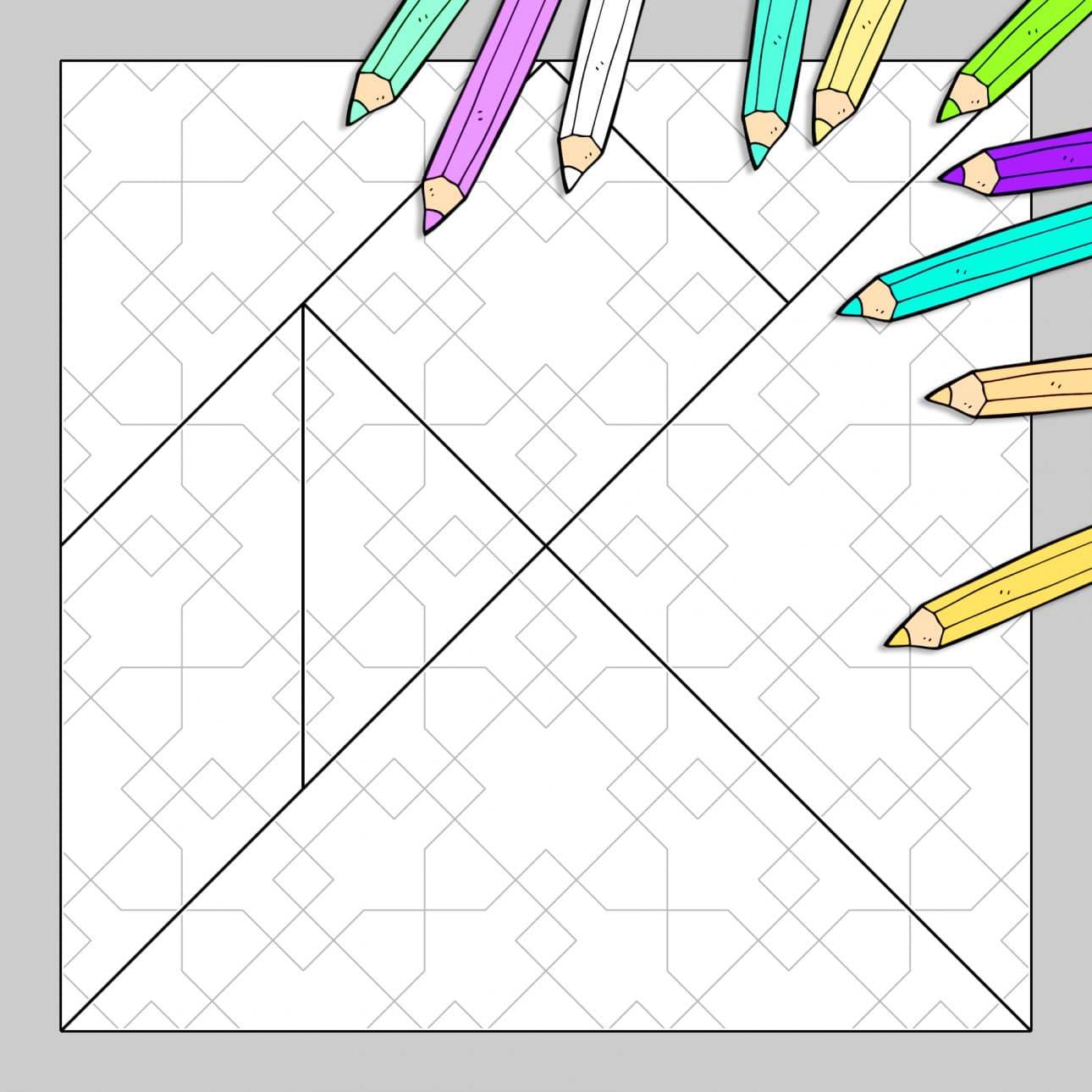 Tangram à colorier N°30