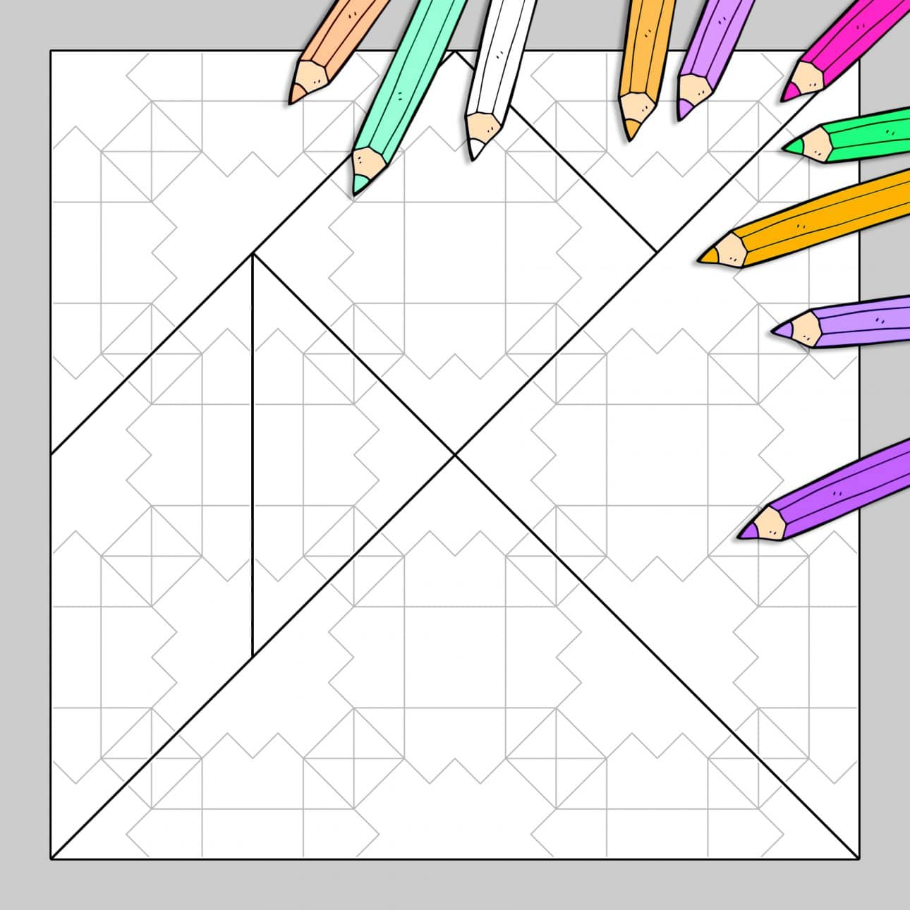Coloriage Solide Cp.Tangram A Colorier N 19