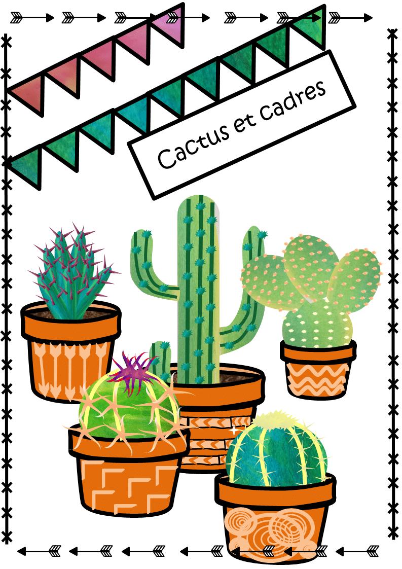 cliparts cactus et cadres
