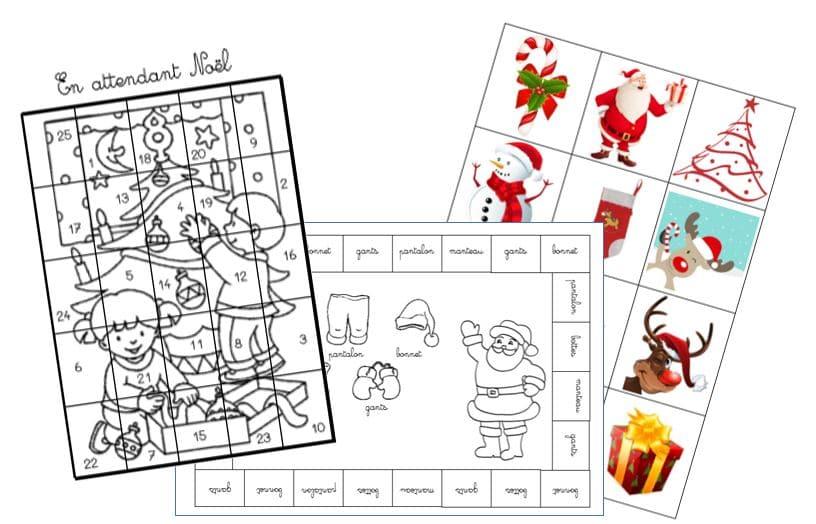 En Attendant Noël Activités Cycle 2 Autonomie Cp Ce1 Grande