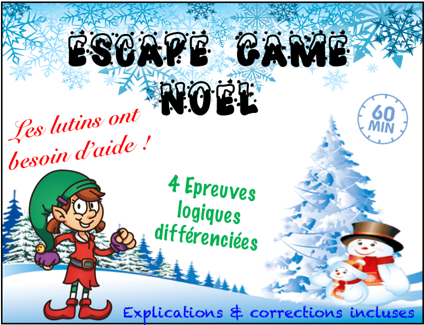 escape game ce2 cm1 cm2 jeu noel