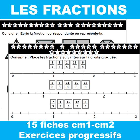 Exercices progressifs sur les fractions
