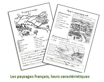 Les paysages français – Fiches à télécharger