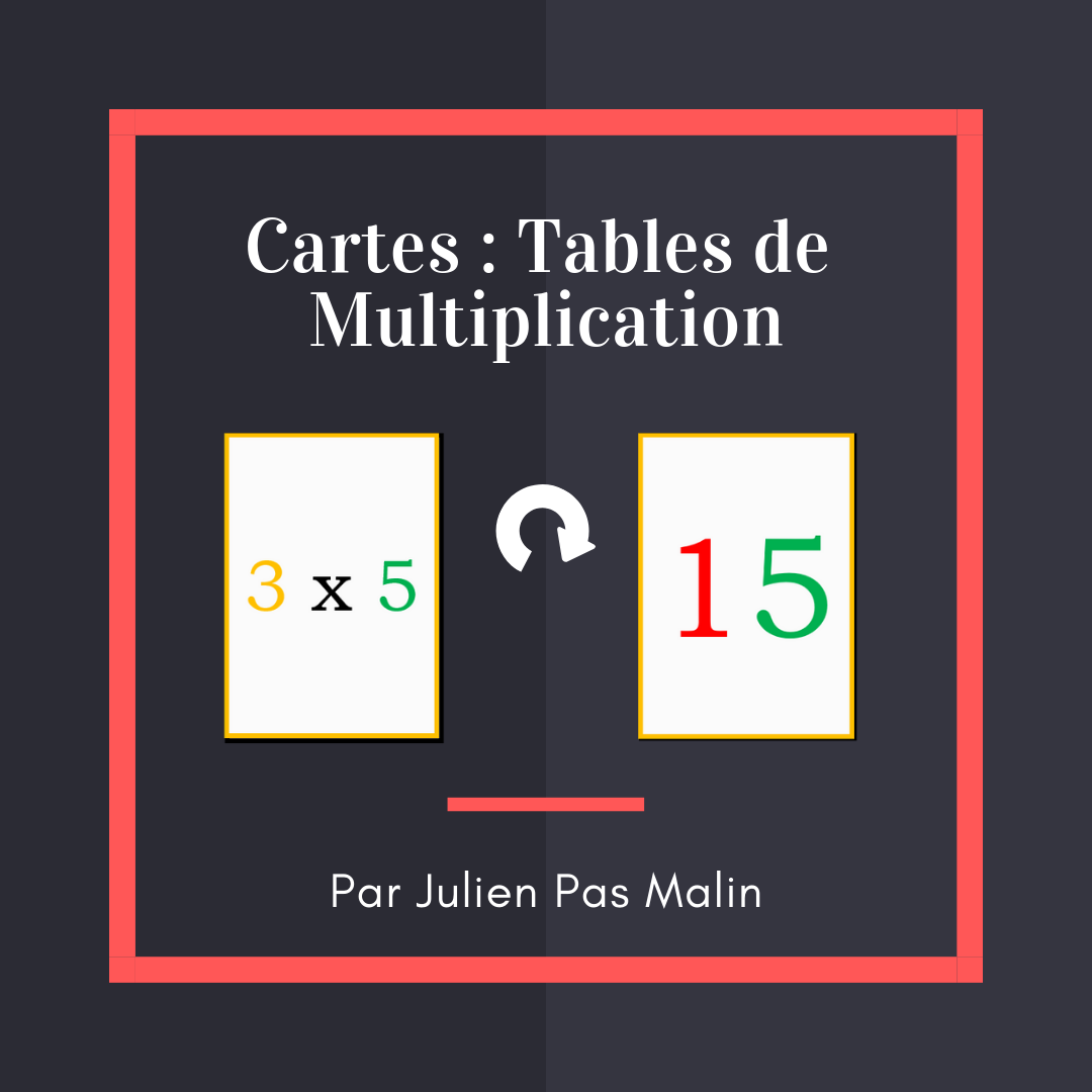 Cartes tables de multiplication