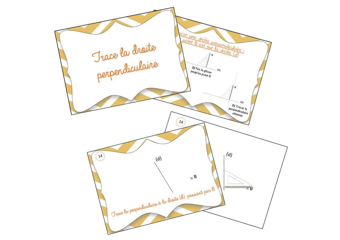 Cartes : Tracer des droites perpendiculaires 2