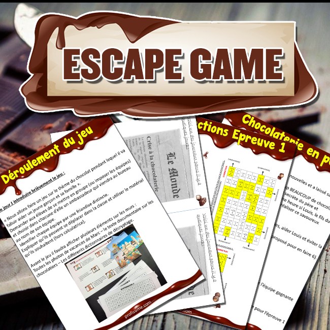 Escape Game thème chocolat