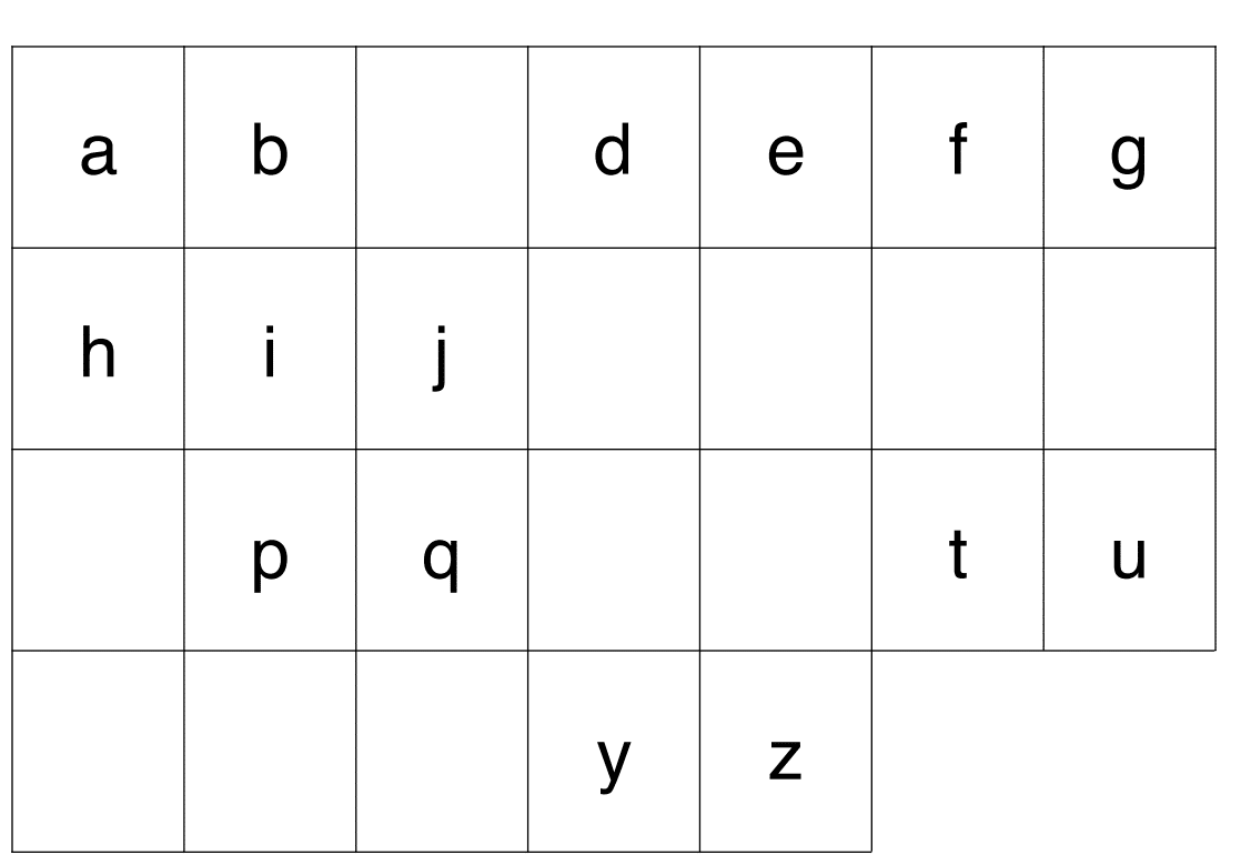 Jeu alphabet : lettres à ordonner + alphabet à trous