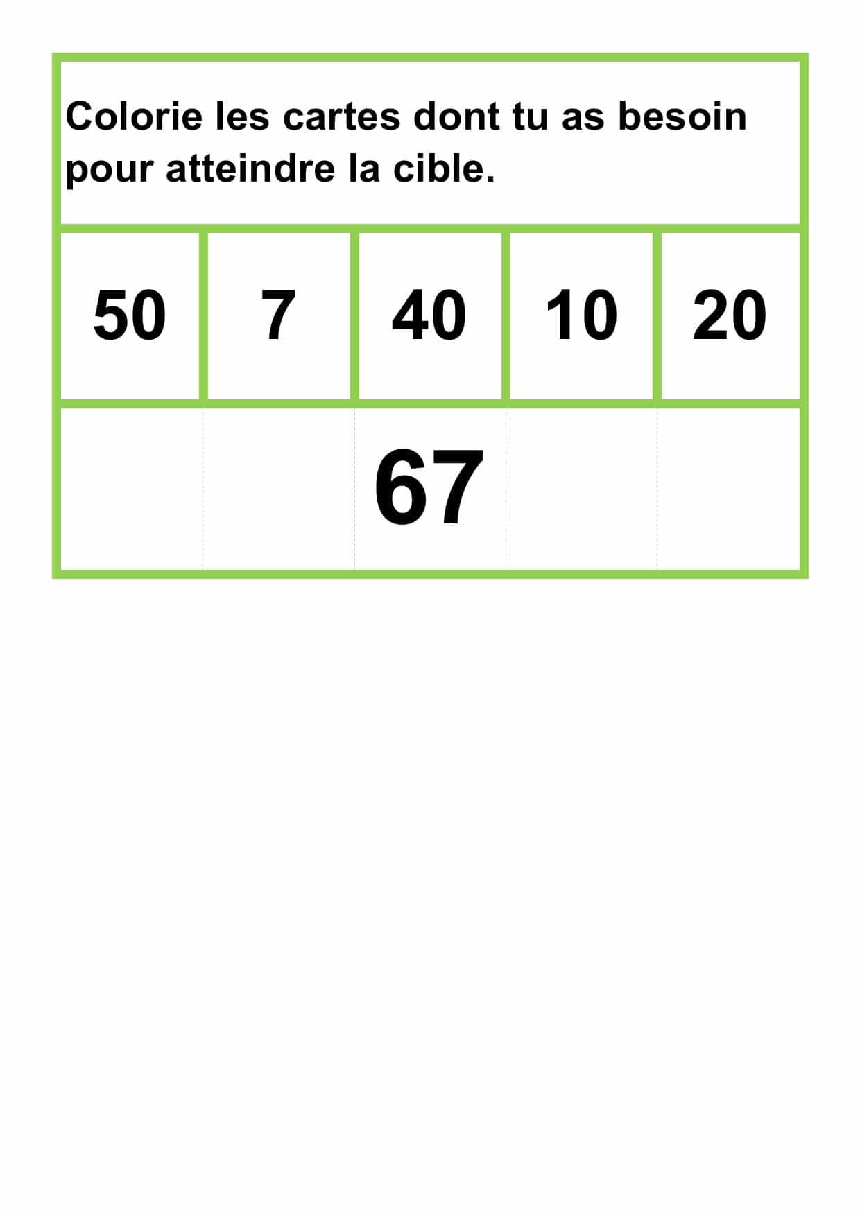 Les mathématiques suivantes: Le nombre cible