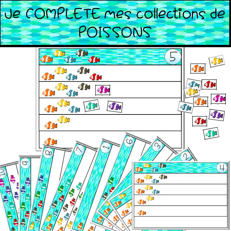 Je COMPLETE mes collections de POISSONS