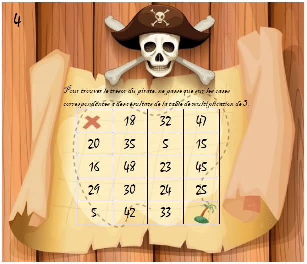 Carte Au Tresor Ce1.Carte Au Tresor Des Multiplications