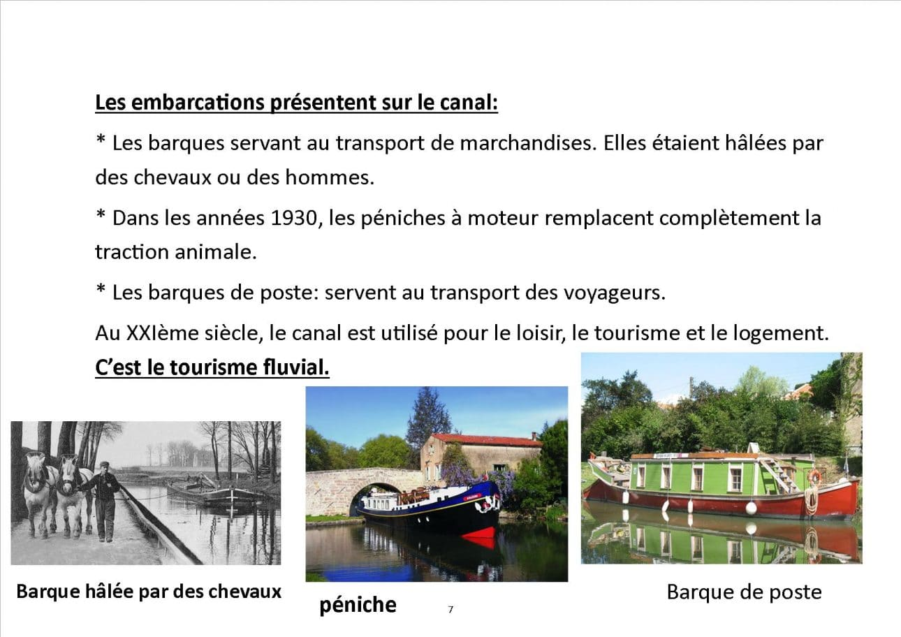 carnet de bord classe fluviale canal du midi