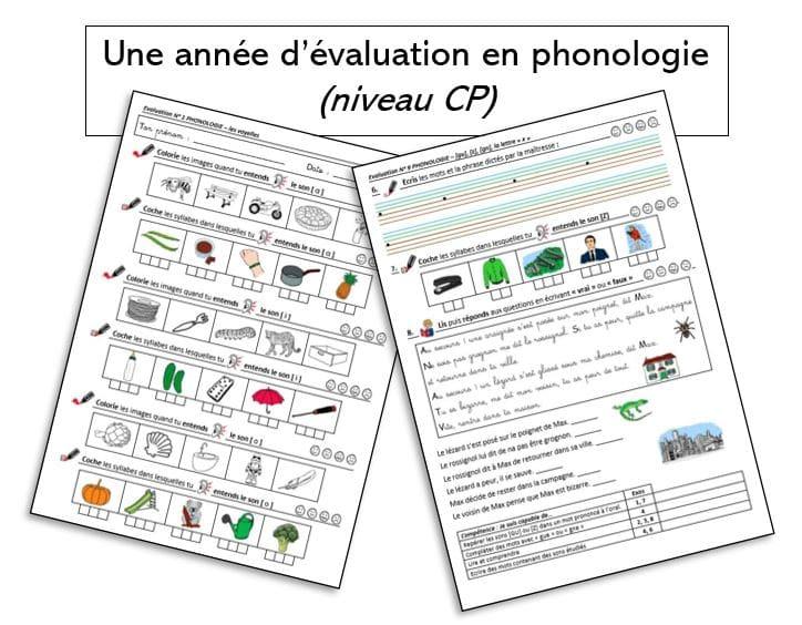 Une année d'évaluation en phonologie (niveau CP)