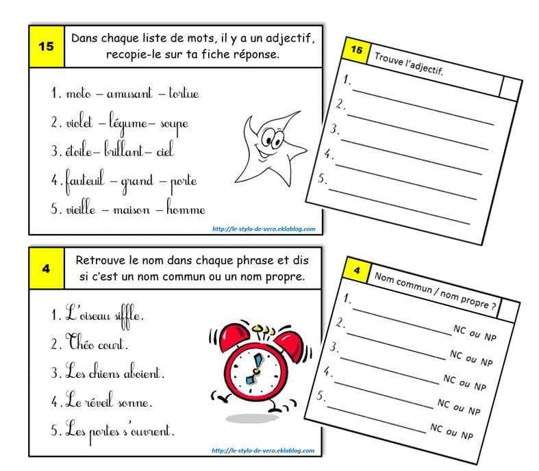 Travail en autonomie grammaire conjugaison (ce1/ce2)