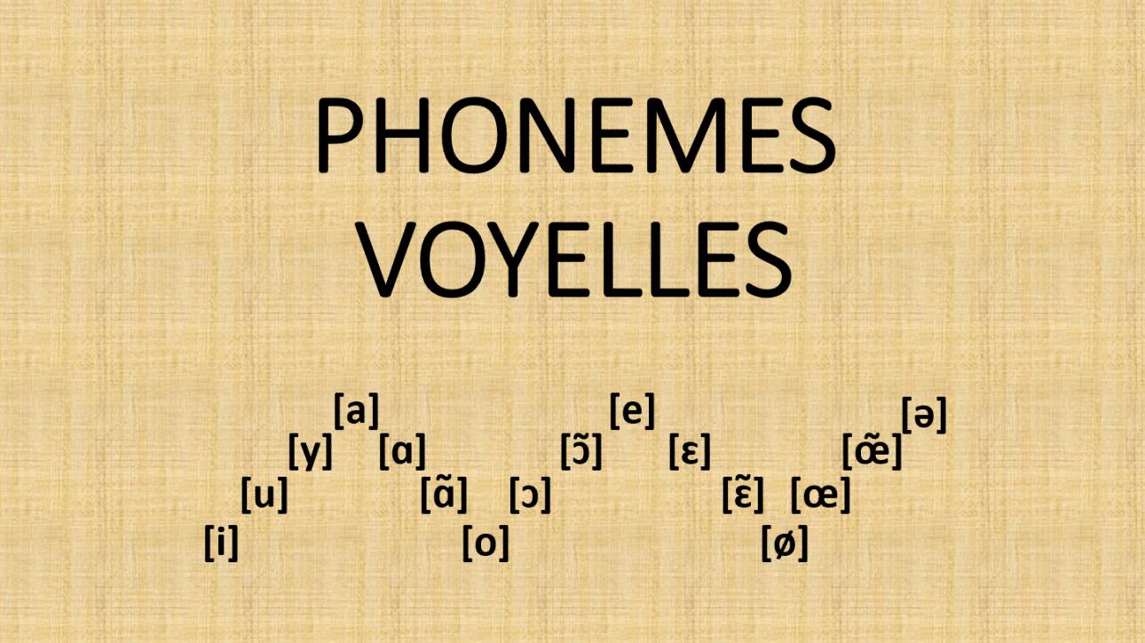 Les phonèmes voyelles