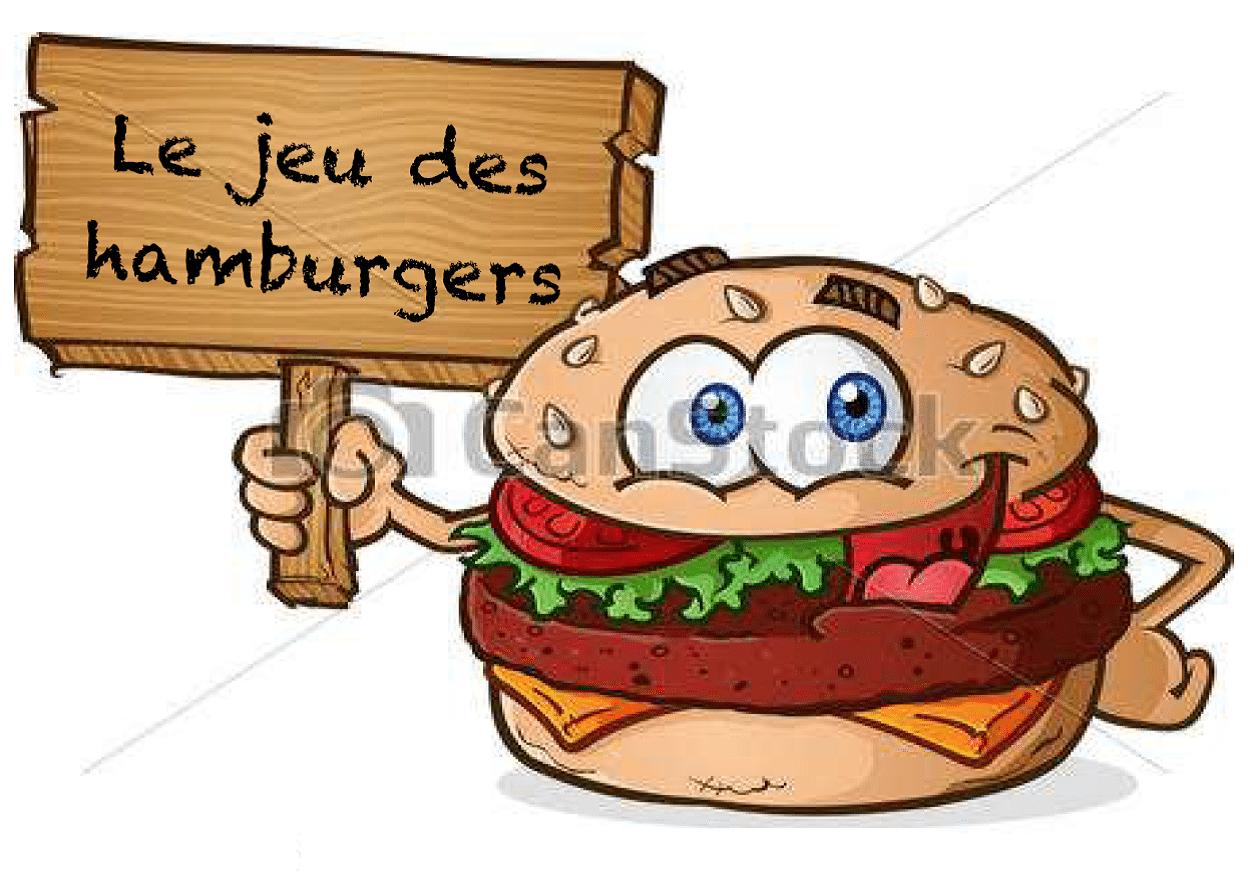 le jeu des hamburgers