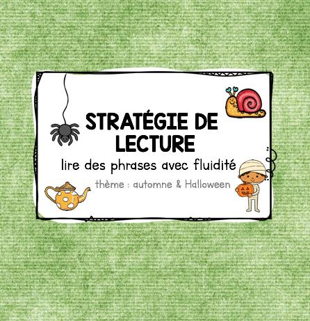 Stratégie de lecture – Lire avec fluidité