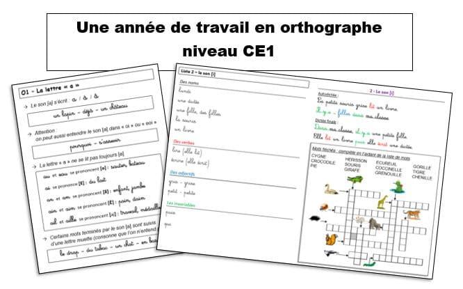Une année de travail en orthographe CE1