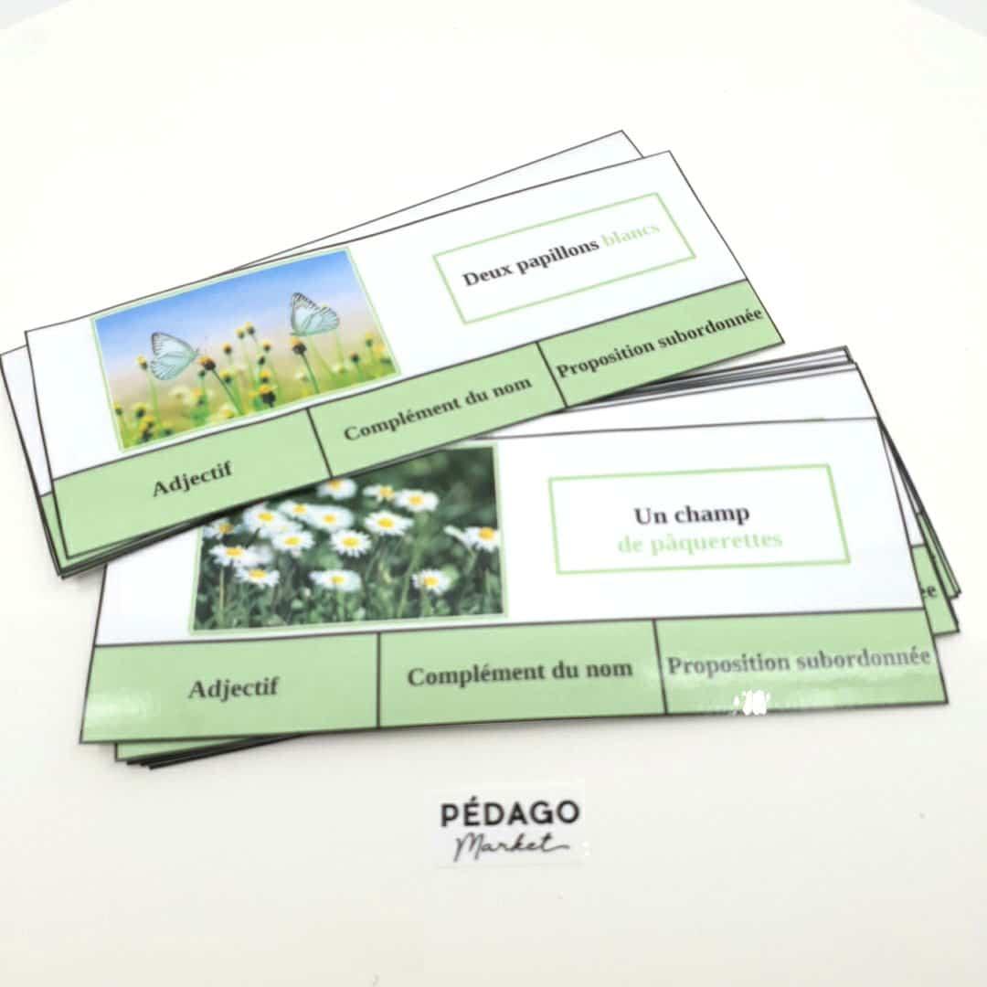 30 cartes à pince sur le thème du printemps: NATURE ET EXPANSION DU GN