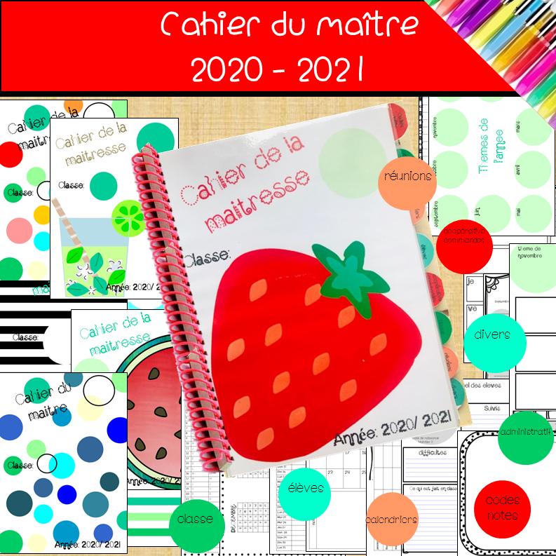cahiers des maîtresses et des maîtres rentrée 2020-21