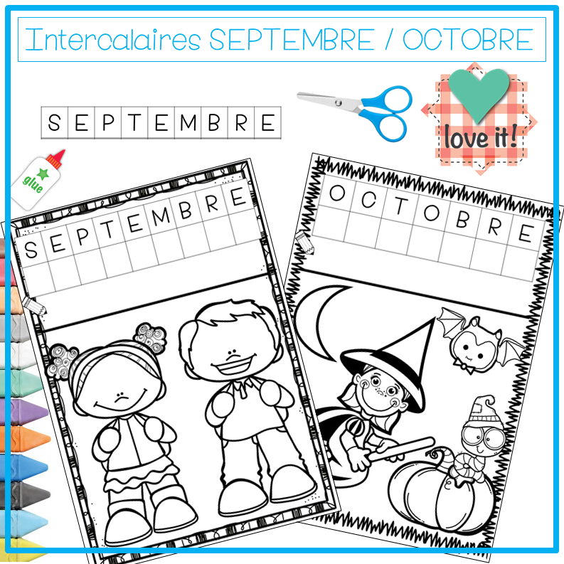 intercalaires SEPTEMBRE OCTOBRE