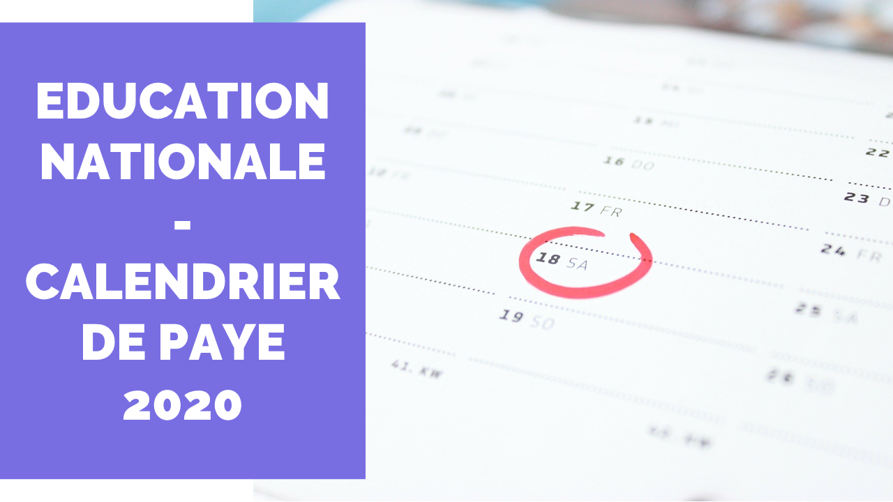 Calendrier Paye Education Nationale 2022 Calendrier de Paye Education Nationale 2021   La Salle des Maitres