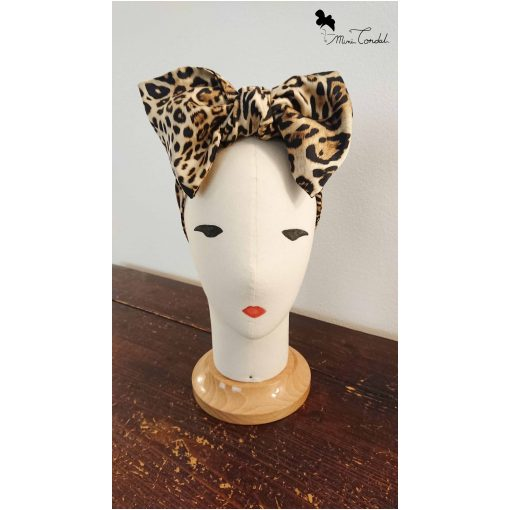 Turbante leopardato