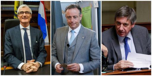 N-VA-kopstukken Geert Bourgeois, Bart De Wever en Jan Jambon