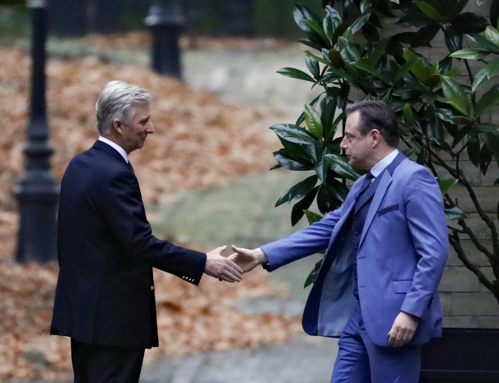 Koning Filip en Bart De Wever in 2018