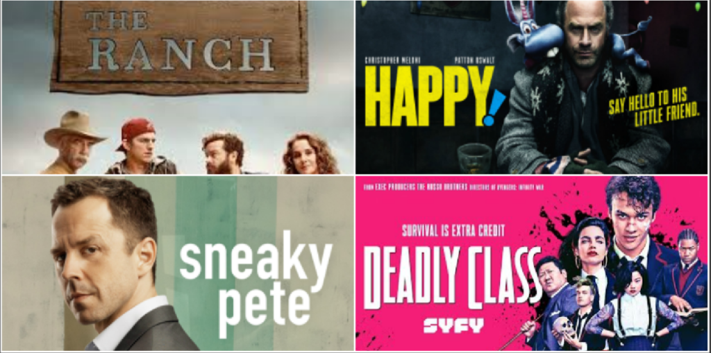 The Ranch - Sneaky Pete - Happy - Deadly Class