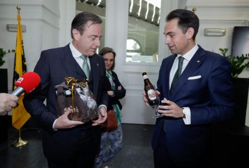 Bart De Wever (N-VA) en Tom Van Grieken (Vlaams Belang)