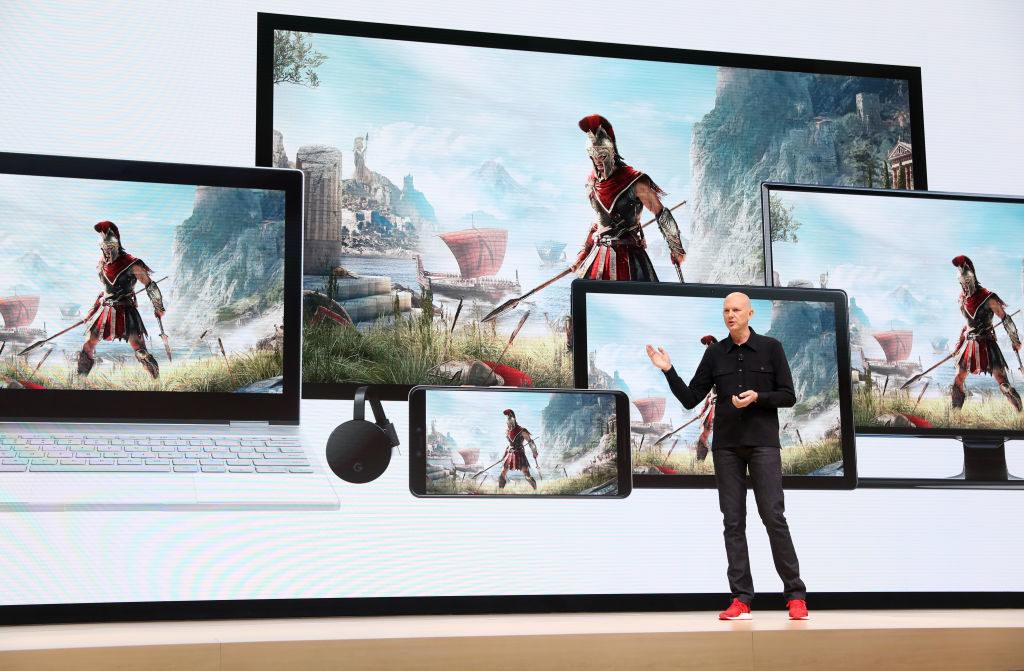 Phil Harrison tijdens de voorstelling van Google Stadia