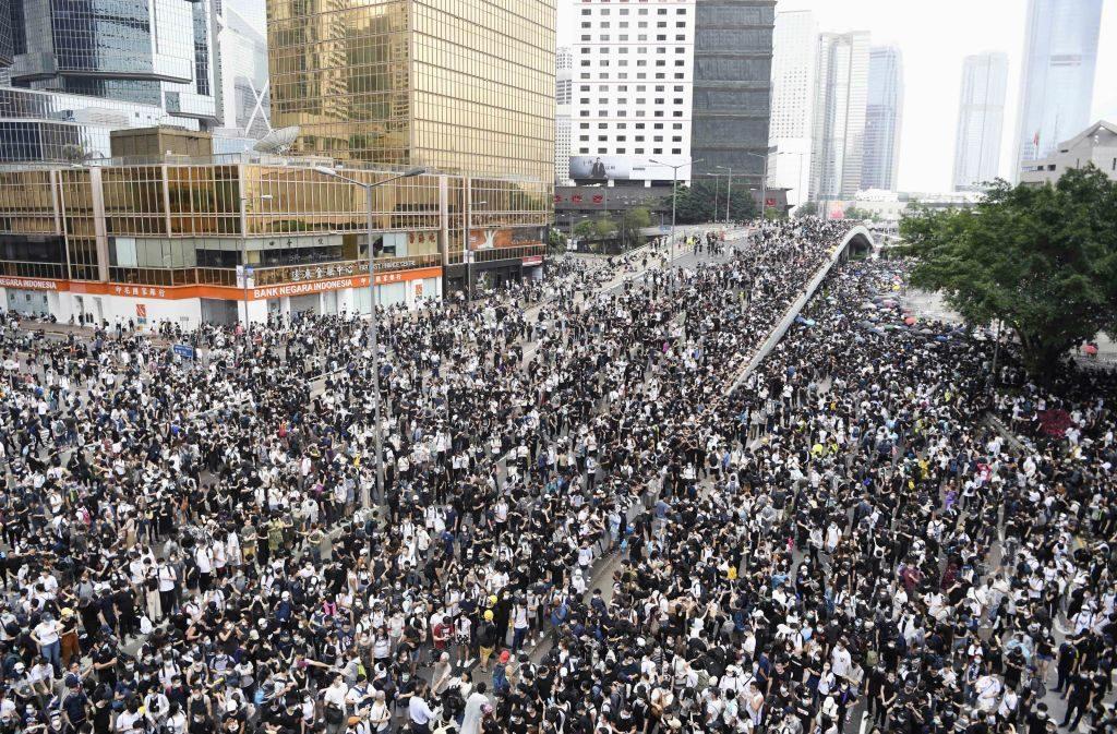 Protest Hongkong nieuwe wet