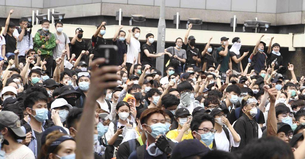 Protest Hong Kong nieuwe wet