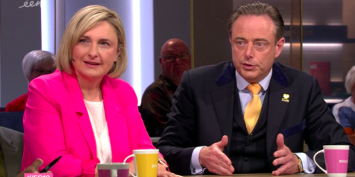 Hilde Crevits (CD&V) en Bart De Wever (N-VA) in De Zevende Dag