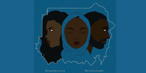 #BlueforSudan