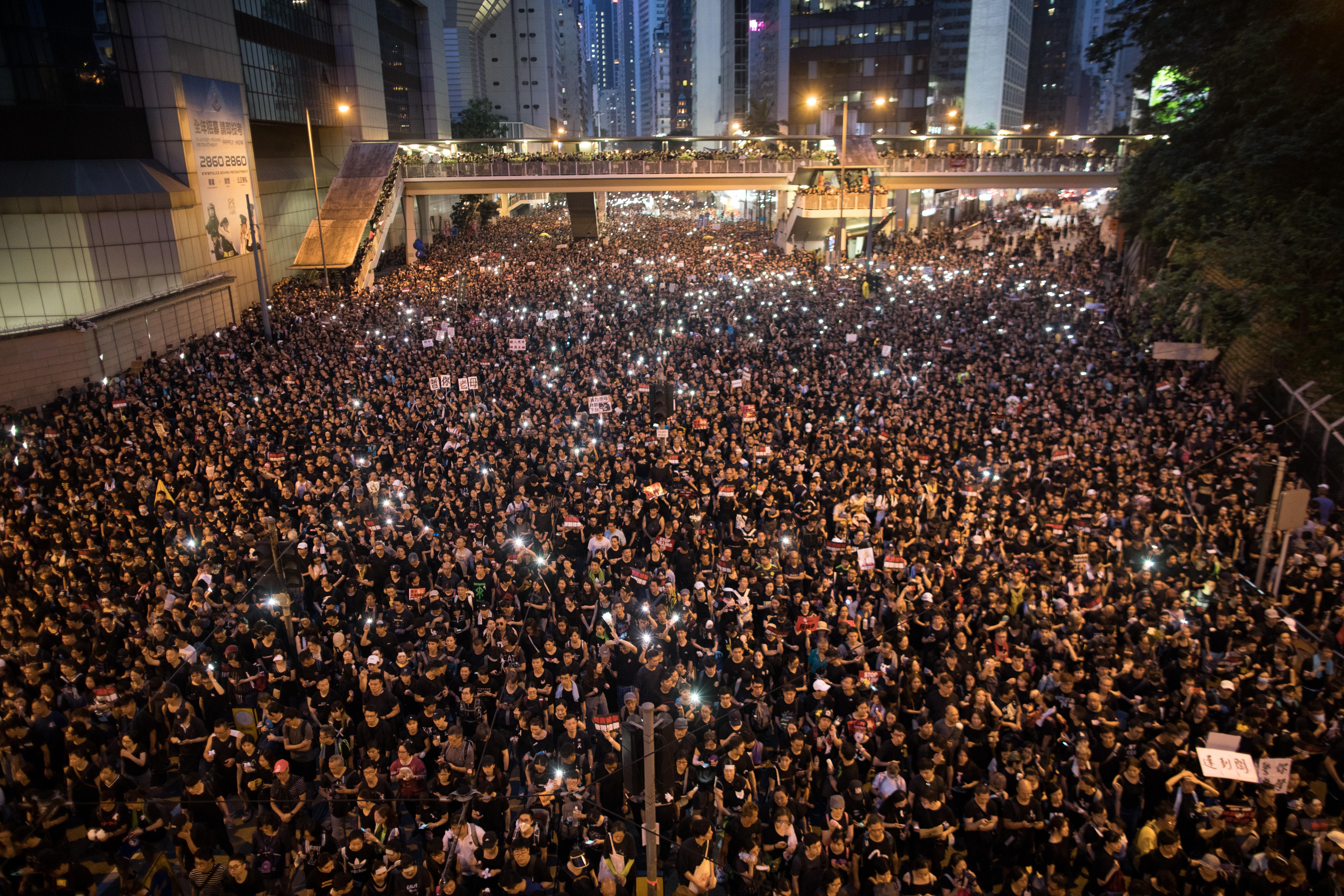Protesten Hongkong
