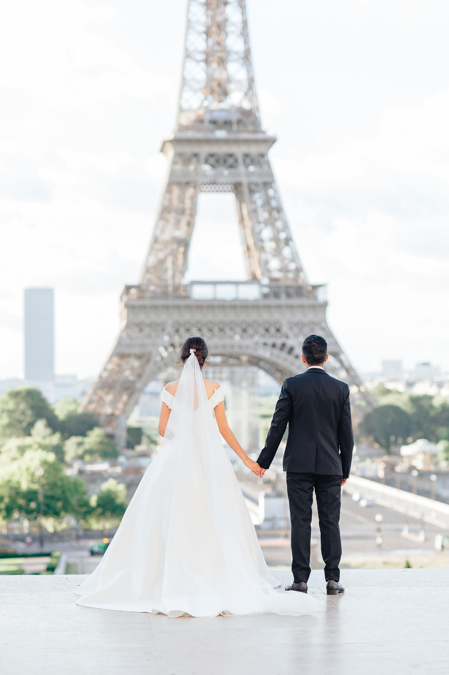 Фотомонтаж свадьба в париже