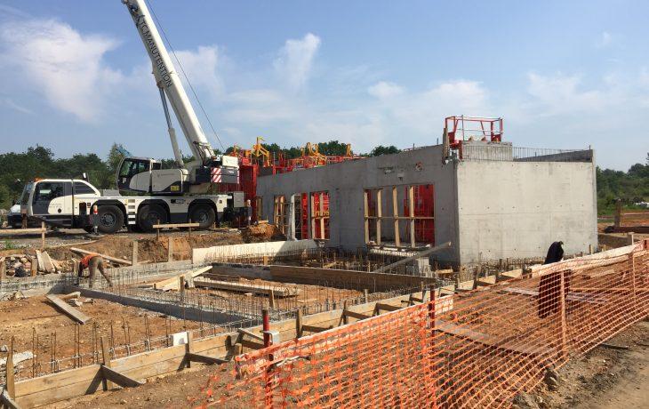 Les travaux du site de garage d'Issou Gargenville s'intensifient