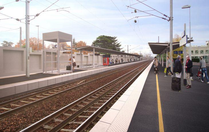 Les travaux Eole dans ma gare Aubergenville-Elisabethville