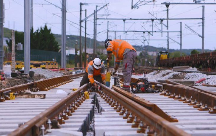 Les travaux de modernisation de voies réalisés à la gare d'Épône-Mézières