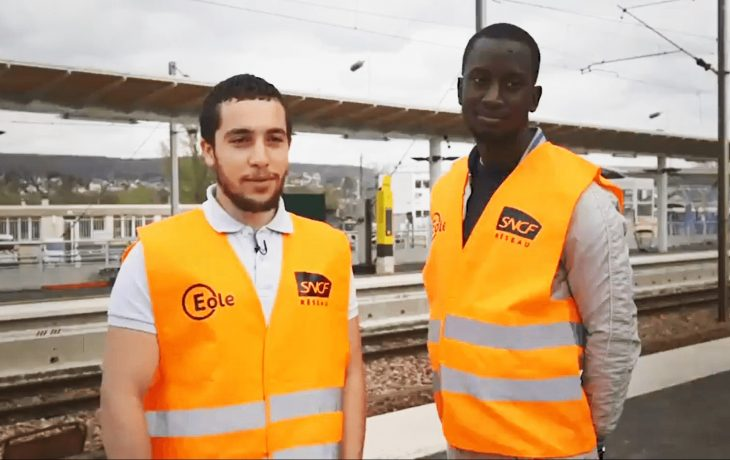 Eole s'engage pour l'insertion professionnelle: Hocine et Boubakar électriciens