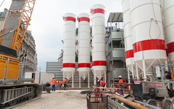 Installation de silos complémentaires place Gouraud