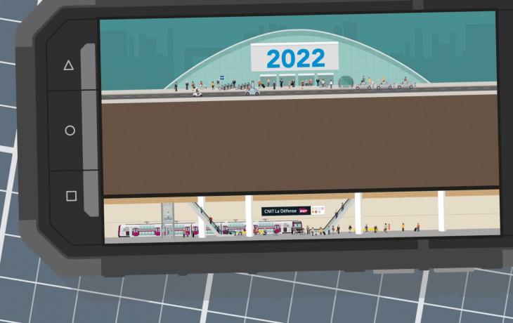 Les défis Eole#1 Comment construire une nouvelle gare à LaDéfense, presque sans se faire remarquer?