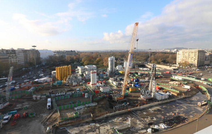 Le chantier Porte Maillot en 2017 enimages