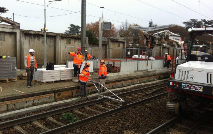 Les travaux se poursuivent dans votre gare