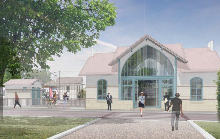 Début des travaux Eole en gare de Villennes-sur Seine
